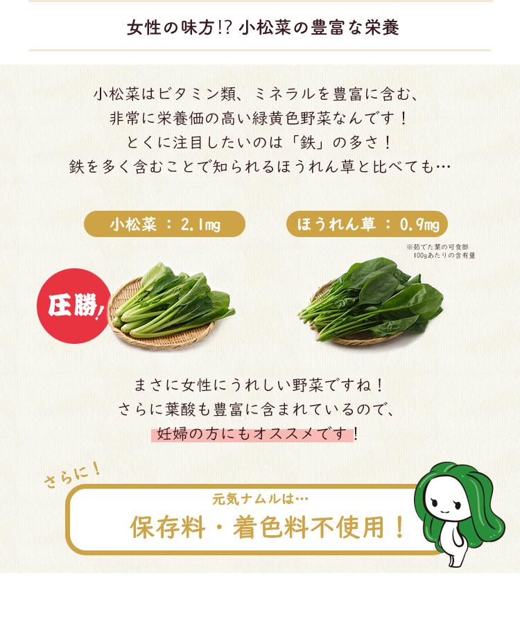 元気ナムル!国産小松菜